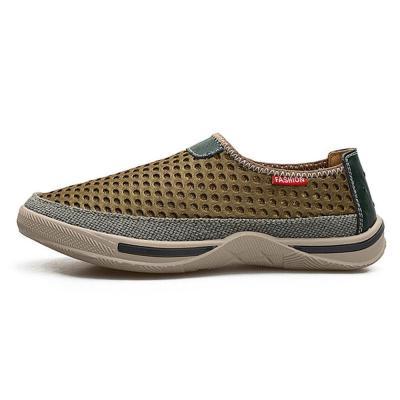 Mens Honeycomb Mesh Slip Resistant Slip On Casual Walking Shoes
