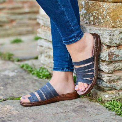 Women Casual Comfy Toe Ring  Wedge Sandal Shoes