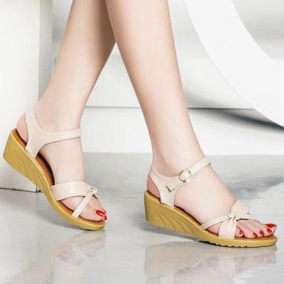 Sandals Women's 2020 Summer Women's Shoes Flat Large Soft Sole Casual Open Toe Buckle Shoes