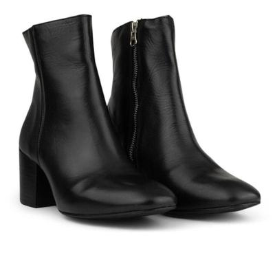 Women's fashion high-heeled square head low boots