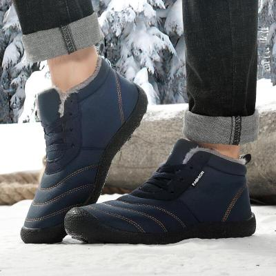 Autumn Winter Men Hiking with Fur Shoes