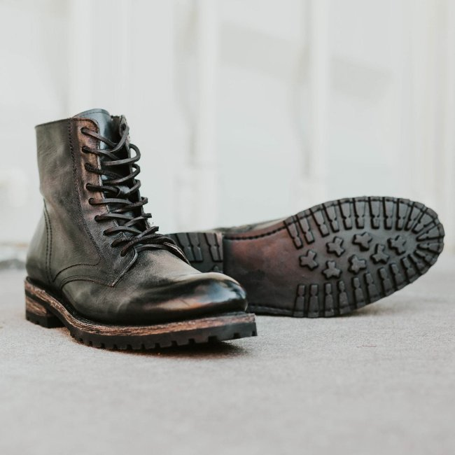 Men's Casual Leather Lace-Up Ankle Boots