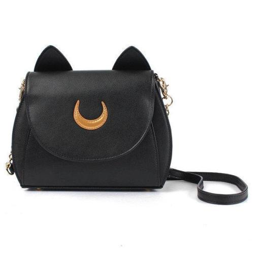 Sweet Moon Print Ear Pattern Design Crossbody Bag Cute Bag