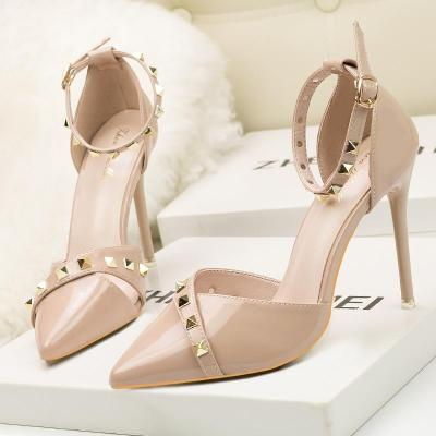Sex nightclub style high heels point shoes for women