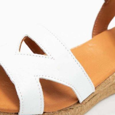 Hollow Straw-Weaved Wedges Platform Sandals