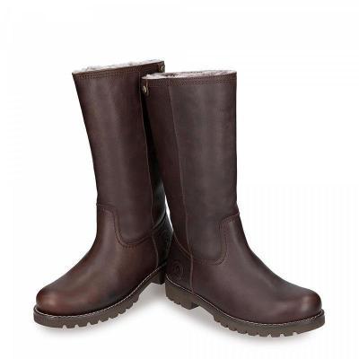 Women Plain Warm Folding Low-heel Boots