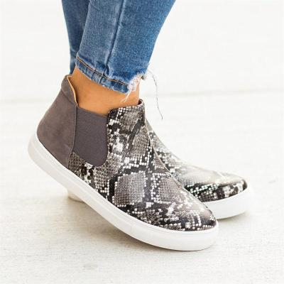Animal Print Slip-On Ankle Sneakers Women's Shoes