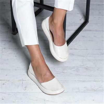 Slide Round Summer Casual Flat Heel Women Flats