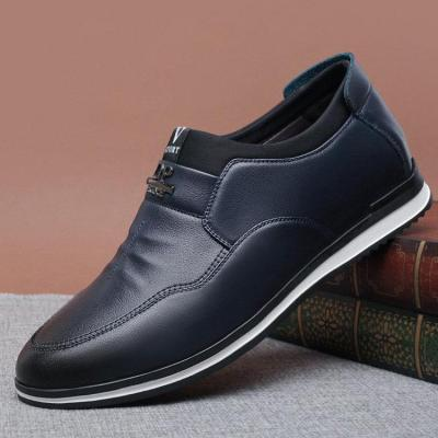 Mens Pure Color Comfy Soft Sole Slip On Casual Flat Shoes