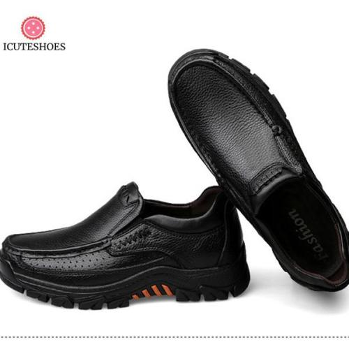 Leather Shoes Genuine Leather Autumn Male Loafers Slip on