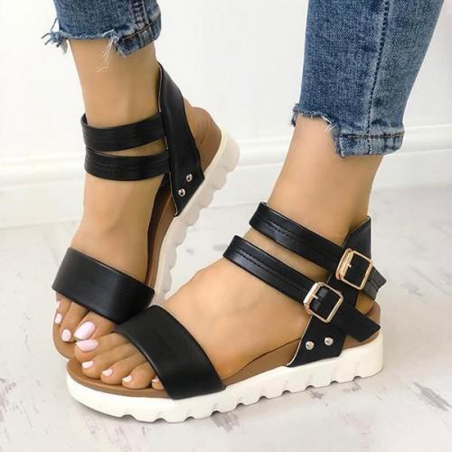 Thick Sole Wedge Platform Sandals