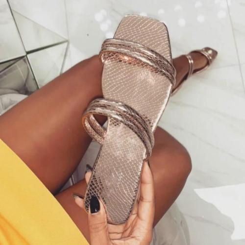 Casual Flock Plus Size Cute Slides Outside Shoes