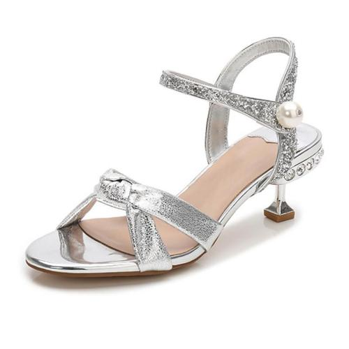 Elegant Rhinestone Open Toe Summer Sandals