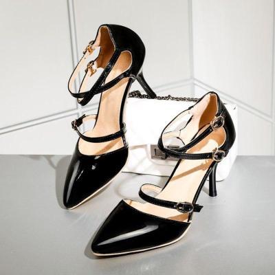 Summer Buckle Stiletto Heel Elegant Pumps