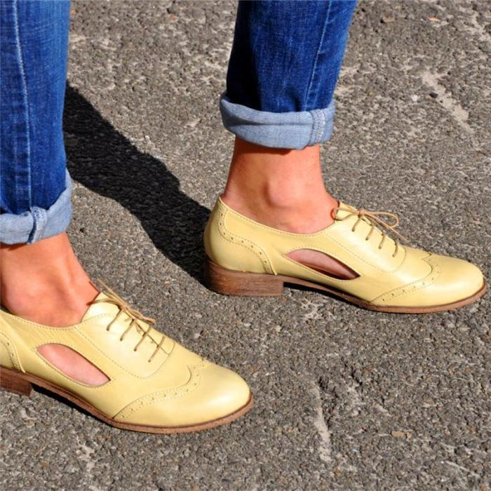Open-Cut Fashionable Oxford Shoes