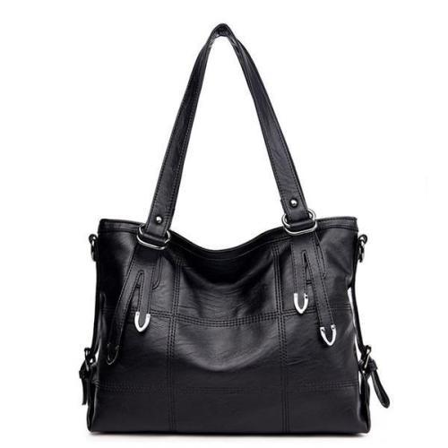Vintage Soft PU Leather Handbag Large Capacity Crossbody Bag