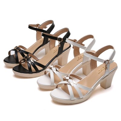 Lace Hollow Gladiator Shoes Woman Slides Peep Toe
