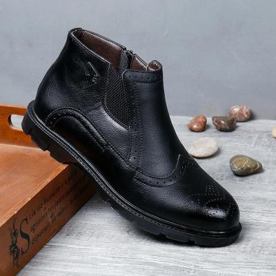 Men's Microfiber Leather Shoes Brogue Shoes