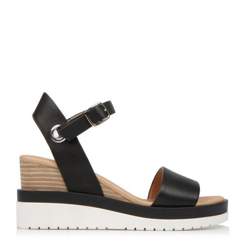 Peep Toe Wedges Buckle Ankle Strap Color Block Sandals