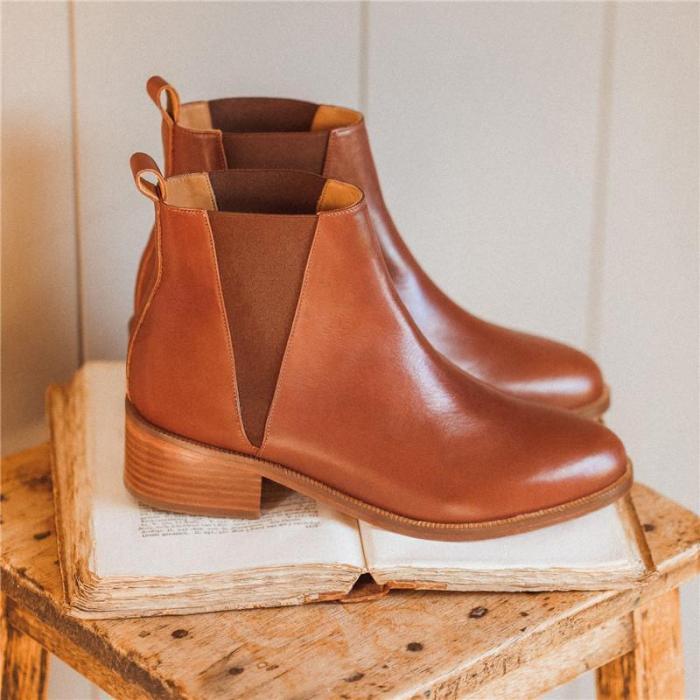 Women's Fashion Versatile Chelsea Boots