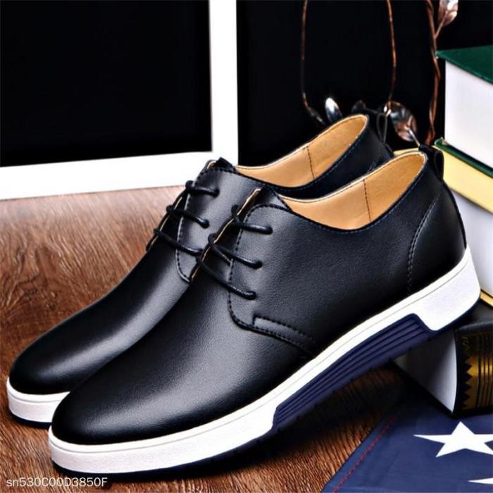 Fashion Business Casual Plain Leather Men Shoes