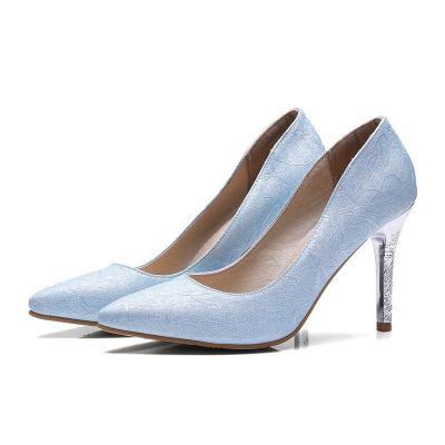 Solid Pointed Toe Elegant High Heels