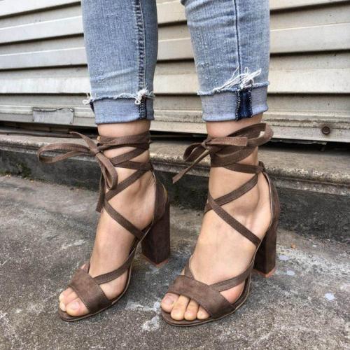 Women High Heel Strap Sandals