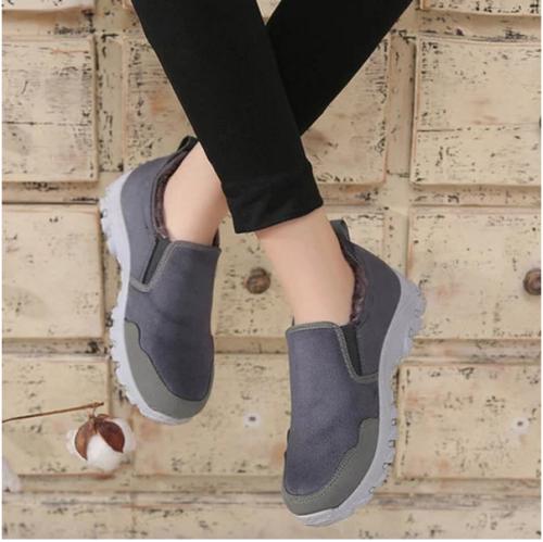 Women Flat Heel Winter Snow Boots Slip on Sport Fashion Sneakers