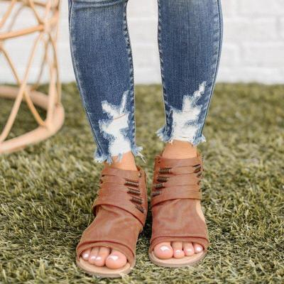 Women Casual Summer Soft Leather Open Toe Sandals