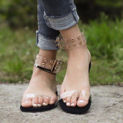 New Summer Women's Shoes Round Head Buckle Fashion Beach Casual Women's Sandals