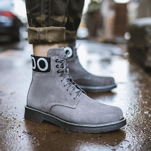Retro High Leather Martin Boots