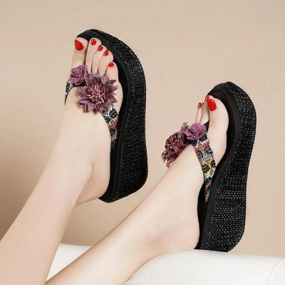 New High-heeled Sandals for Women Summer Bohemia for Holiday Wear Beach Shoes for Women