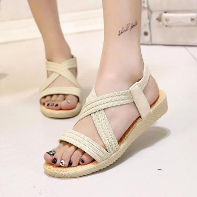 Casual Women Sandals Peep-Toe Flat With Shoes