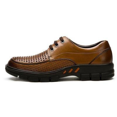 Mens Hollow-out Lace Up Formal Shoes Casual Flats