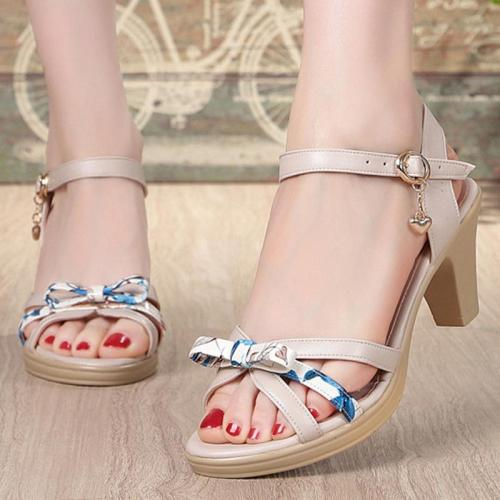 Casual Genuine Leather Women Open Toe Sandals