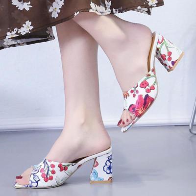 Summer Open Toe Chunky Heel Holiday Daily Heels
