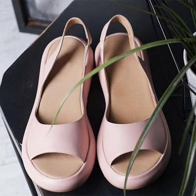 Fashion Rome Slip-On Breathable Non-slip Shoes Woman Slides Solid Casual