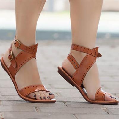 Fashion Zipper Beach Flat Sandal