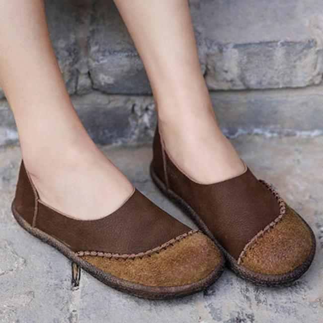 Round Toe Casual Retro Shoes