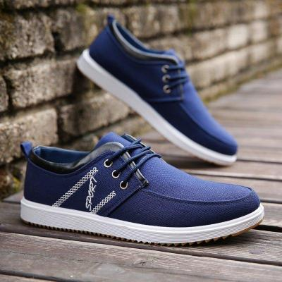 Mens Canvas Breathable Lace Up Soft Casual Driving Shoes
