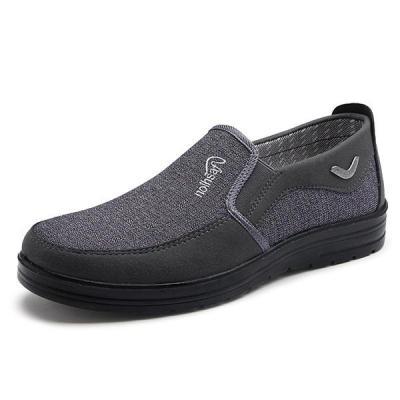 Mens Casual Round Toe Slip On Breathable Flat Shoes