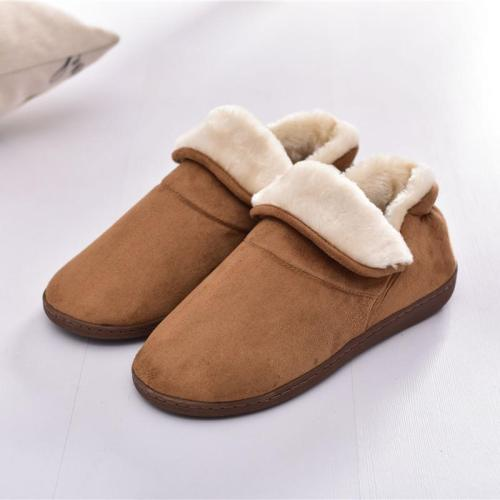 Unisex Home Plush Cotton Patchwork Slipper