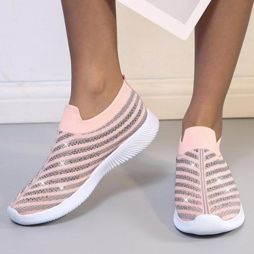 Mesh Comfy Rhinestone Casual Sneakers