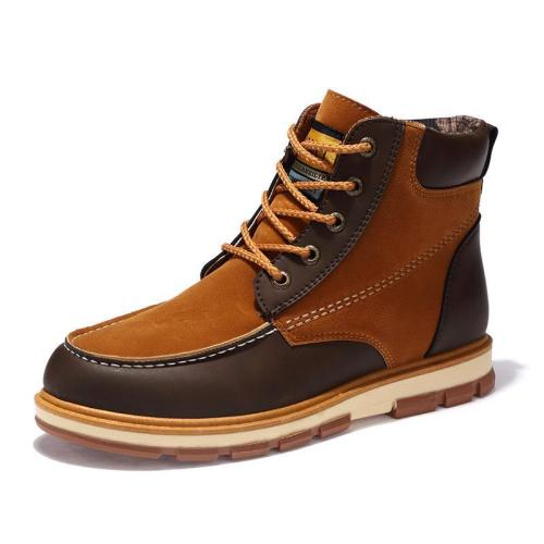 Pu Leather Ankle Men Boots Men Leisure Martin Winter Men Boots