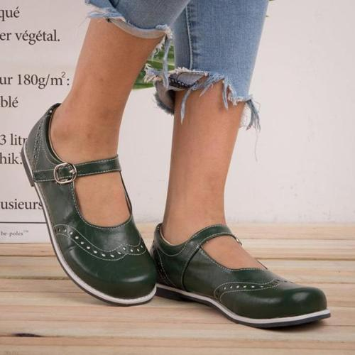 Vintage Cute School Girl Low Heels Shoes