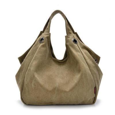 Canvas Casual Hobo Handbag Large Capcity Crossbody Bag