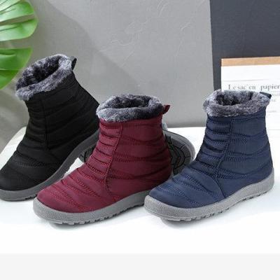 Women Casual Flat Heel Warm Closed Toe Boots