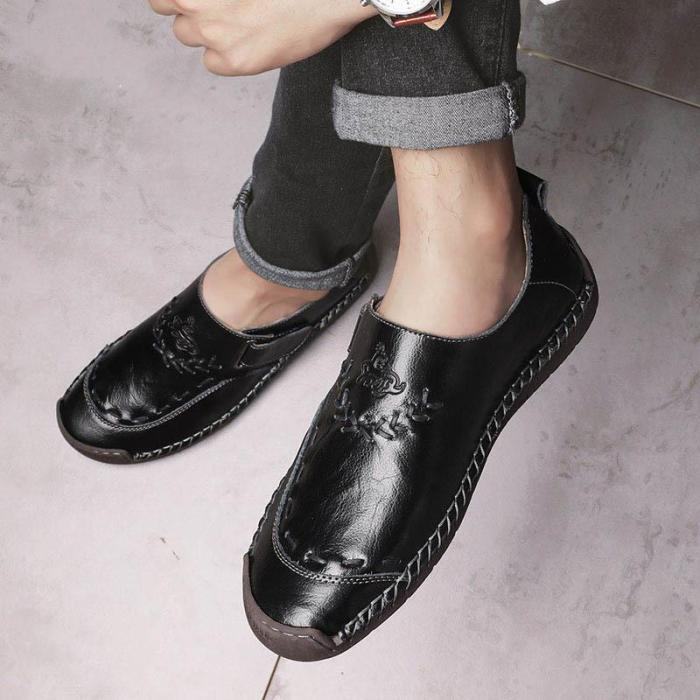 Retro Hook-buckle Casual Shoes