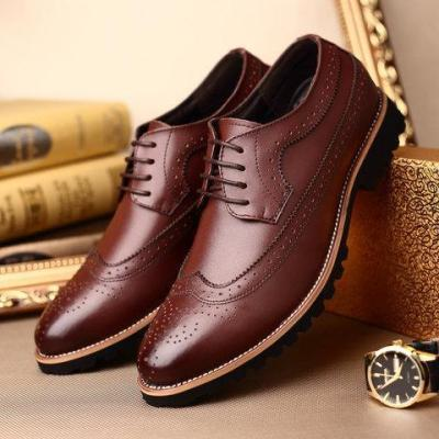 Brogue Business  Manmade Leather Flats Loafers