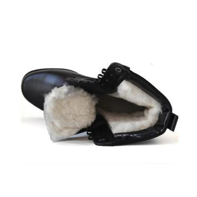 Men's tactical boots outdoor leather plus velvet boots